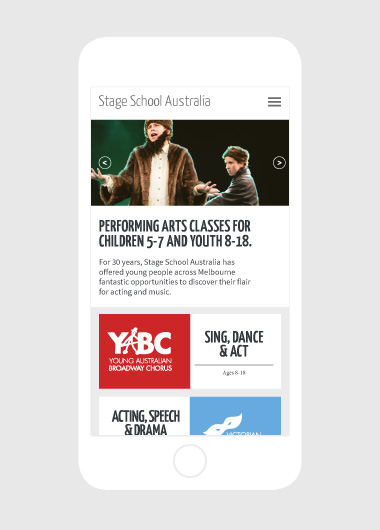 Stage School Website